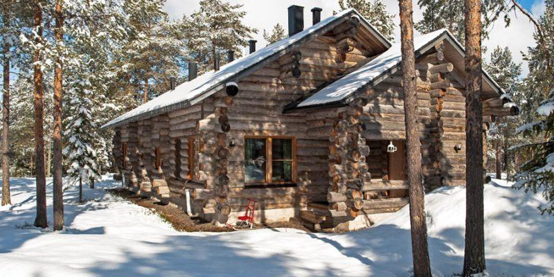 Akaslompolo log cabins