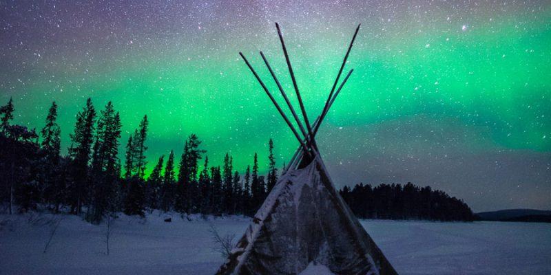 Winters Lapland met noorderlicht