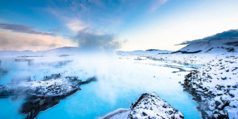 Blue lagoon in IJsland warmwaterbron spa