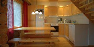 Keuken blokhut Akaslompolo Finland