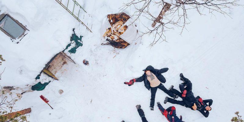 Kleine en gezellige groepen in de lodges in Lapland