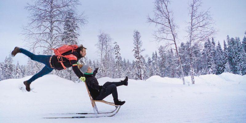 Laat je glijden op een kicksled tijdens de beste reisperiode winters Lapland
