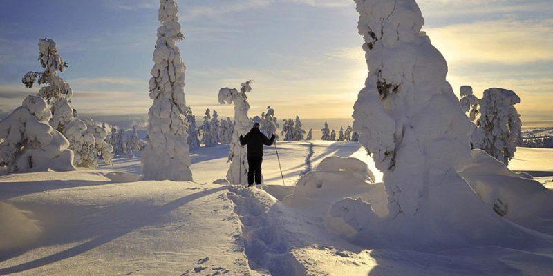 Langlaufen in Akaslompolo Finland