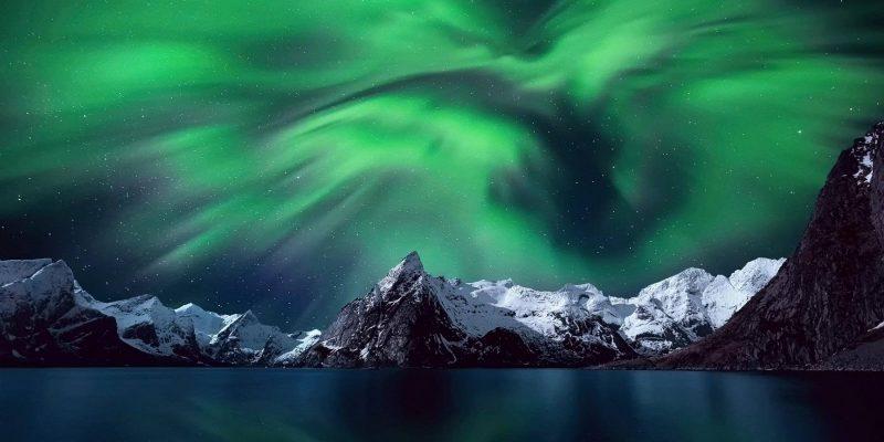Noorderlicht Noorwegen fjorden