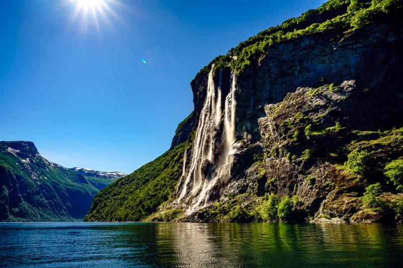 Noorwegen Geirangerfjord waterval