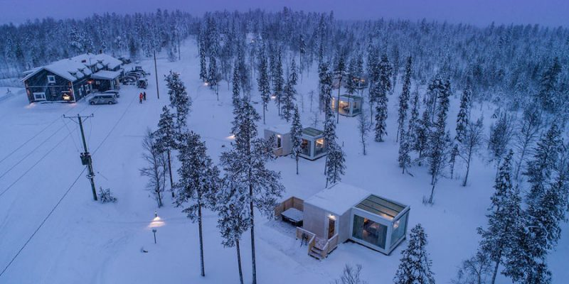 natuur Northern Lights Ranch Lapland