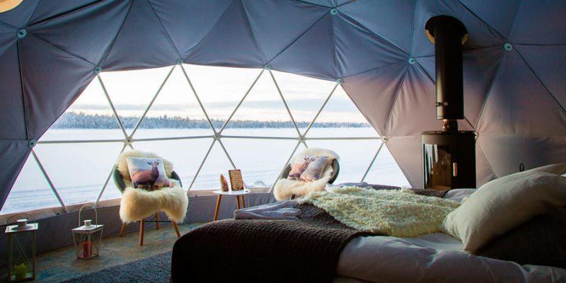 overnacht in Aurora Dome Harriniva