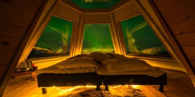 Overnachten onder noorderlicht Aurora Hideaway in Lapland