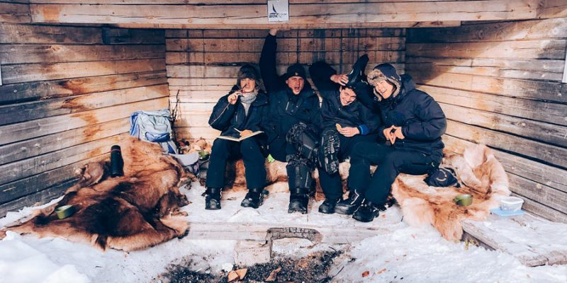 Wildernis Lunch gezelligheid in Lapland