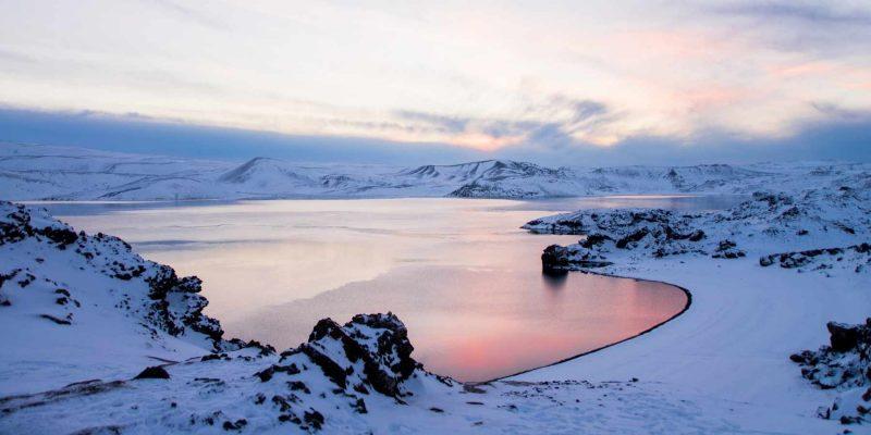 Wandelen op IJsland tijdens de winter met Nordic
