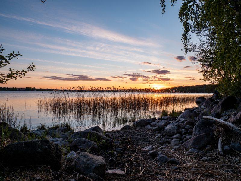 Wildkamperen-in-Zweden-zonsondergang