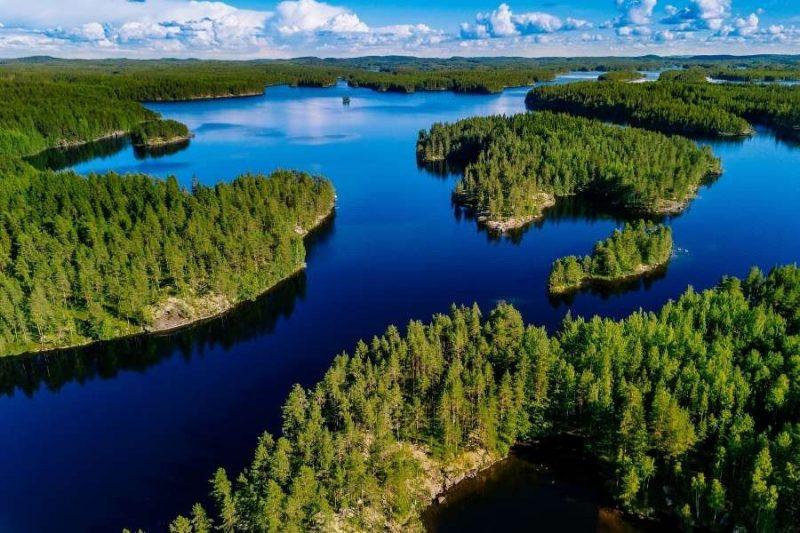 FInland bossen en meren met Nordic