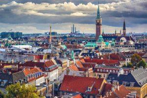 Bird eye view over Denemarken reizen met Nordic