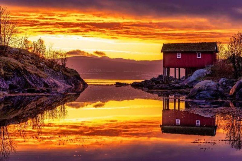 Genieten van de middernachtzon in Noorwegen bij de Saltstraumen Fjord met Nordic