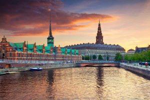 Kopenhagen zonsondergang Nordic