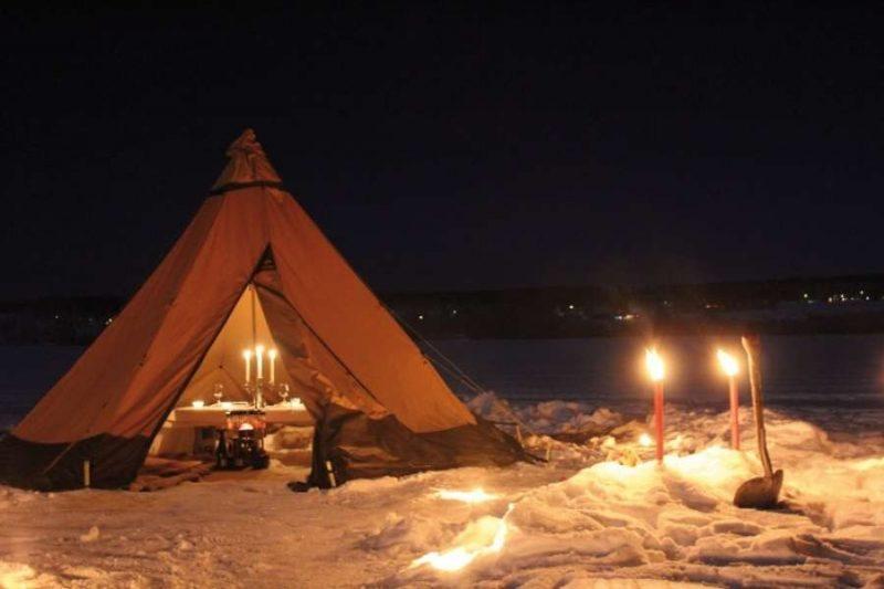 Romantisch dineren bij het TreeHouse hotel in Zweden