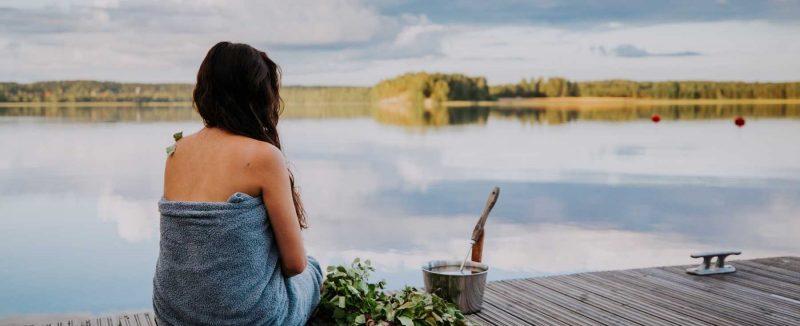 nagenieten van de sauna aan de Finse meren