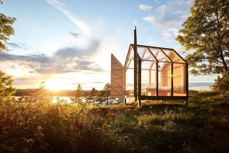 Uniek logeren in een glazen huis in Zweden met Nordic