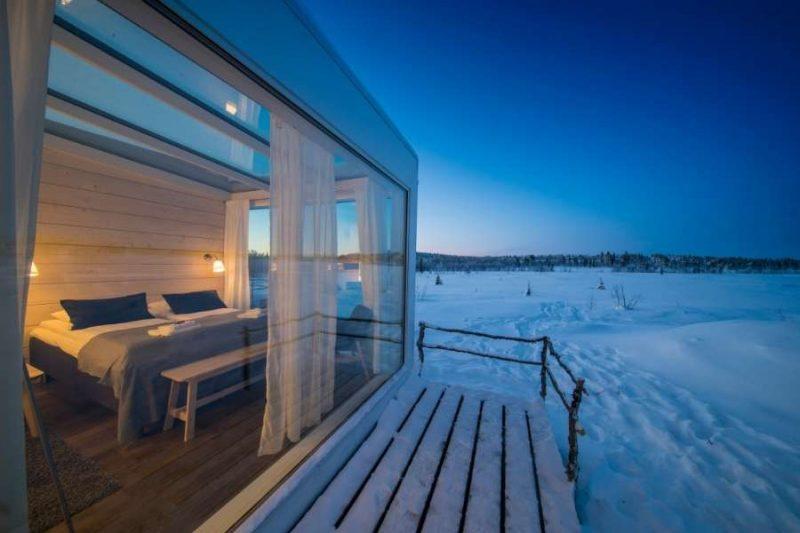 Unieke glazen Aurora Suites in Lapland met Nordic