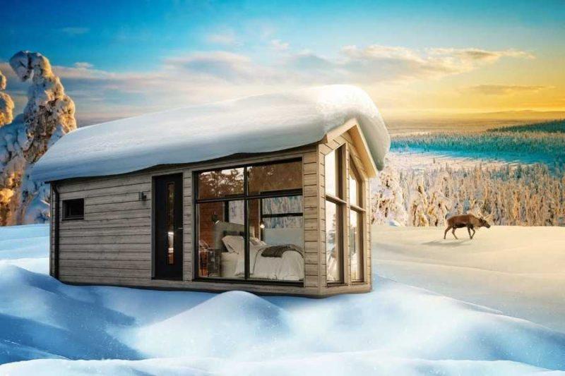 Een chalet van de Lapland View Lodge (artist impression)