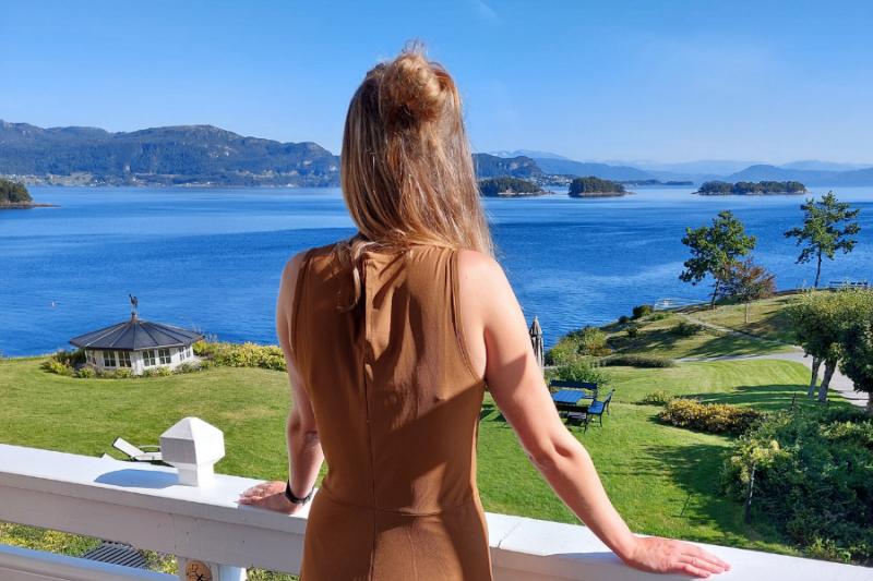 Schitterend uitzicht bij Solstrand Hotel & Bad