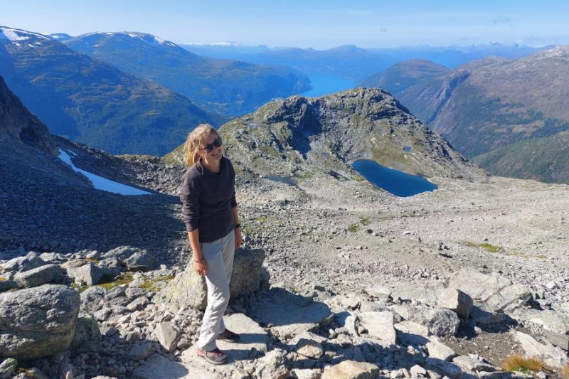 Foto op de top van Mount Skala met prachtig uitzicht